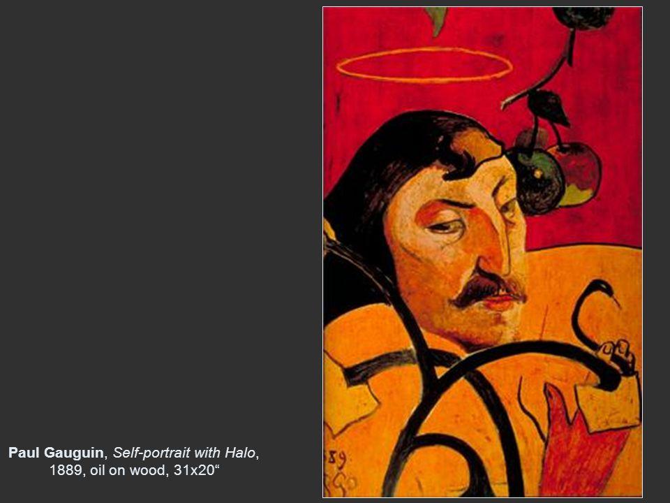 Paul Gauguin, Self-portrait with Halo, 1889, oil on wood, 31x20