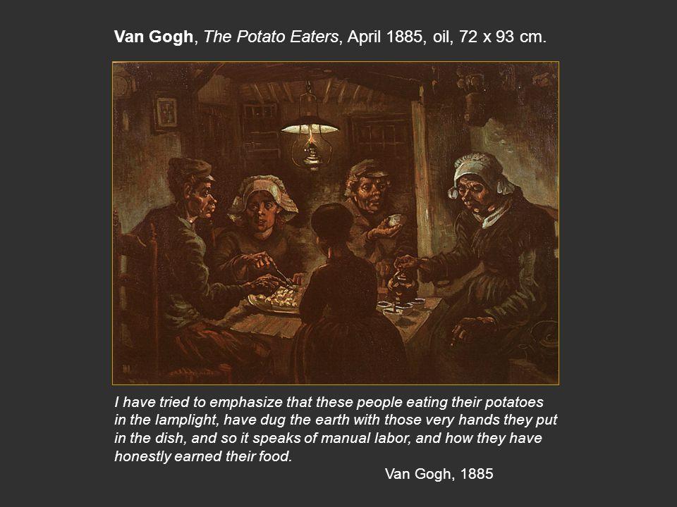 Van Gogh, The Potato Eaters, April 1885, oil, 72 x 93 cm.