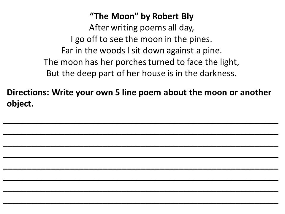 The Moon by Robert Bly