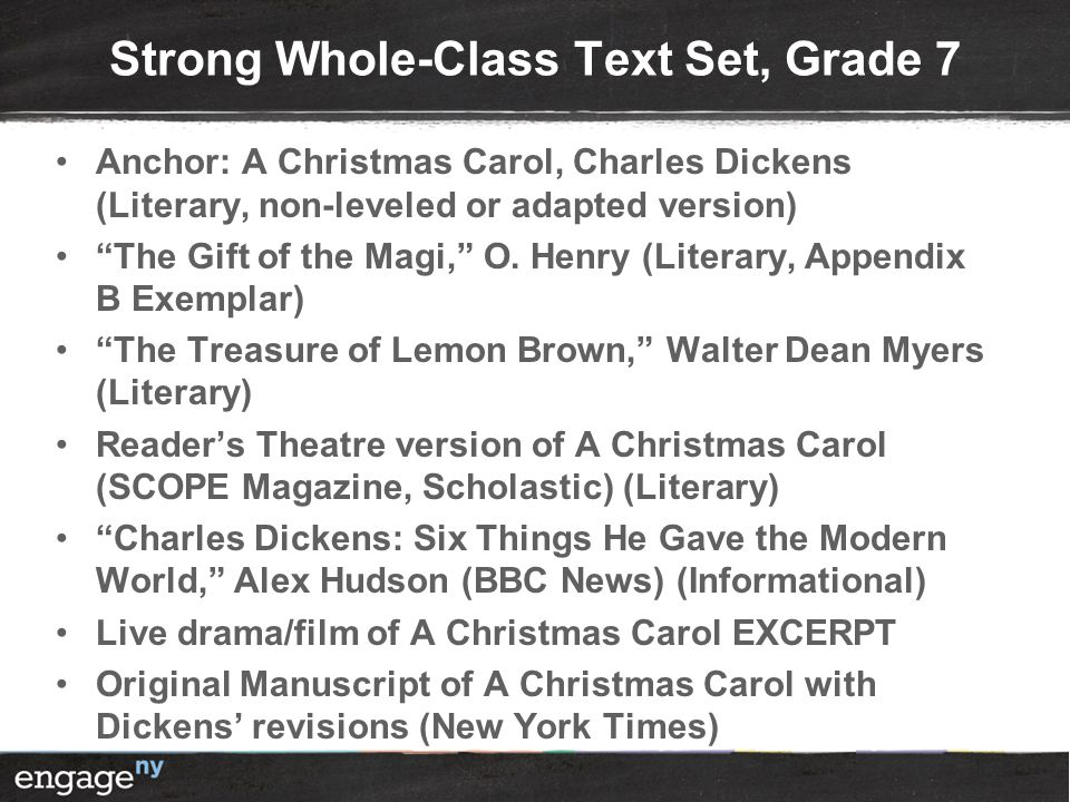 Strong Whole-Class Text Set, Grade 7