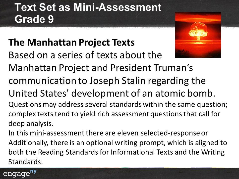 Text Set as Mini-Assessment Grade 9