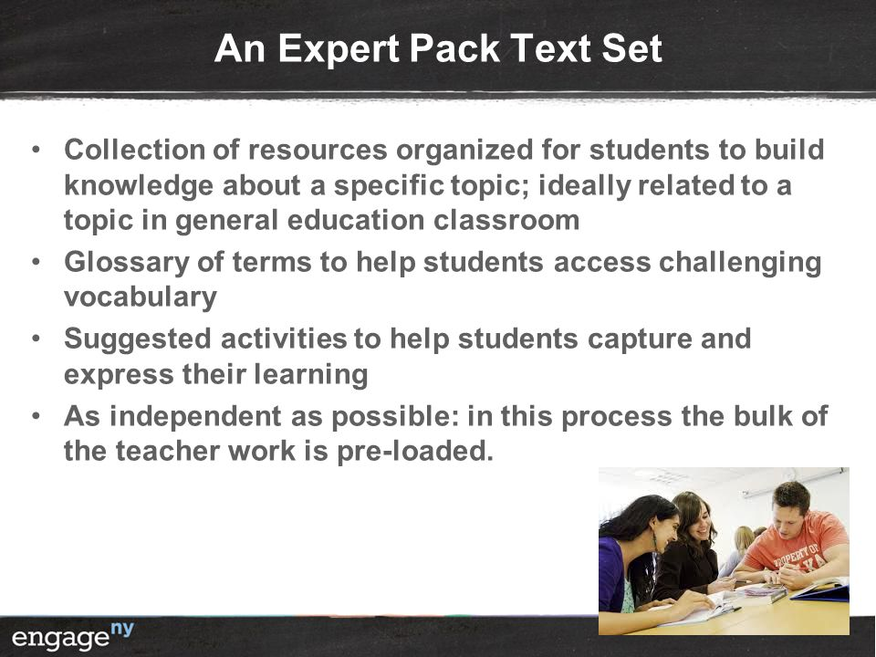 An Expert Pack Text Set