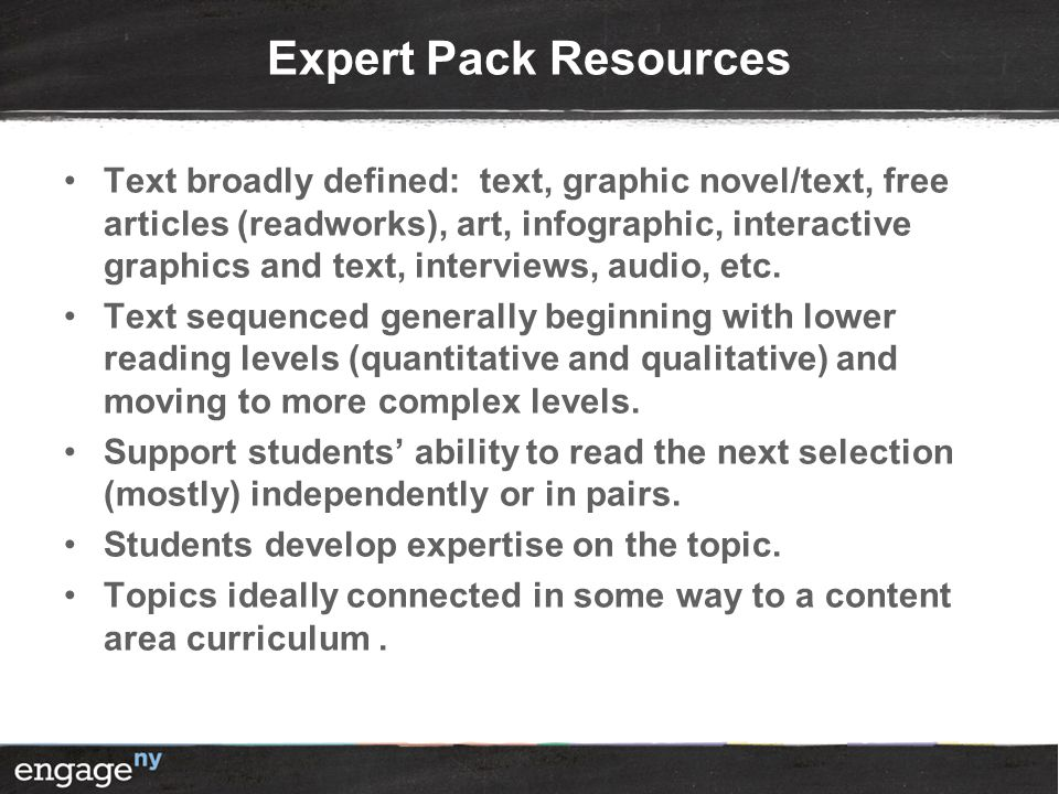 Expert Pack Resources