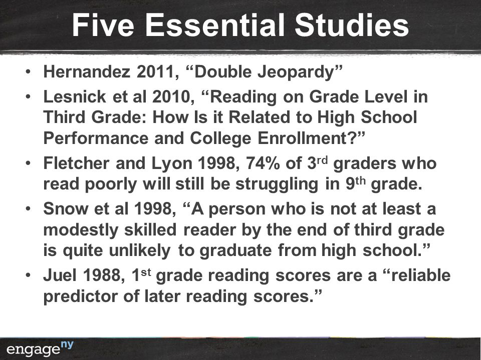 Five Essential Studies
