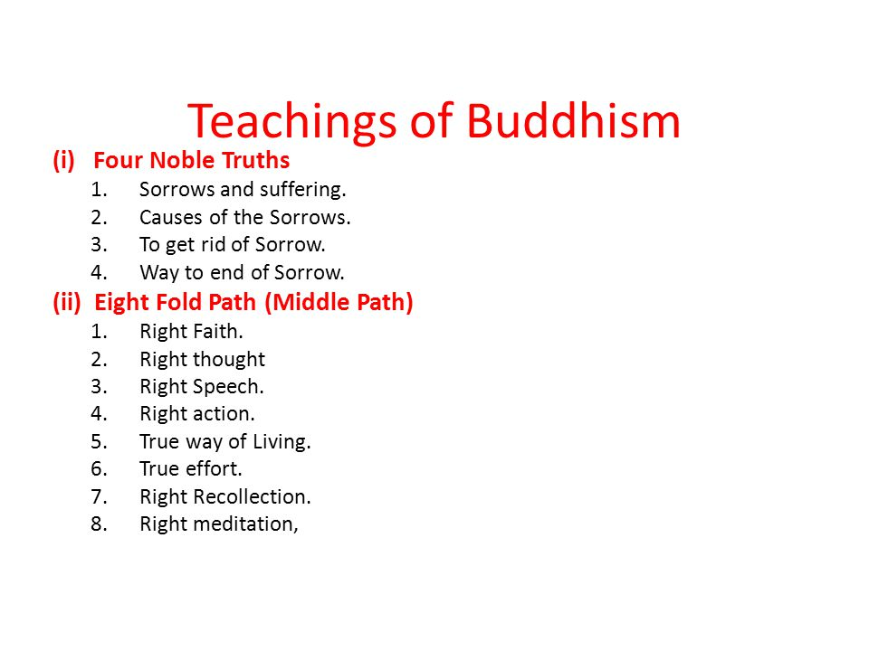 Teachings of Buddhism (i) Four Noble Truths