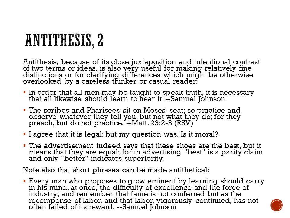 Antithesis, 2
