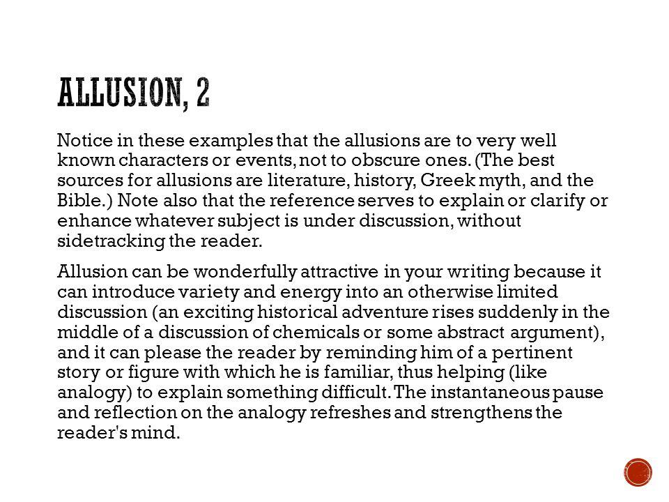 Allusion, 2