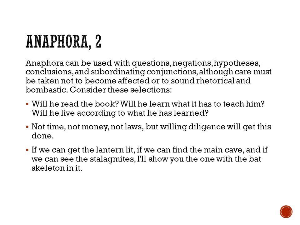 Anaphora, 2