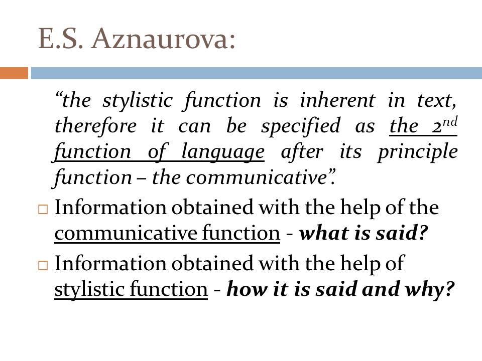 E.S. Aznaurova: