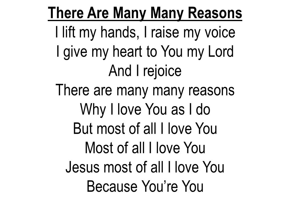 There Are Many Many Reasons