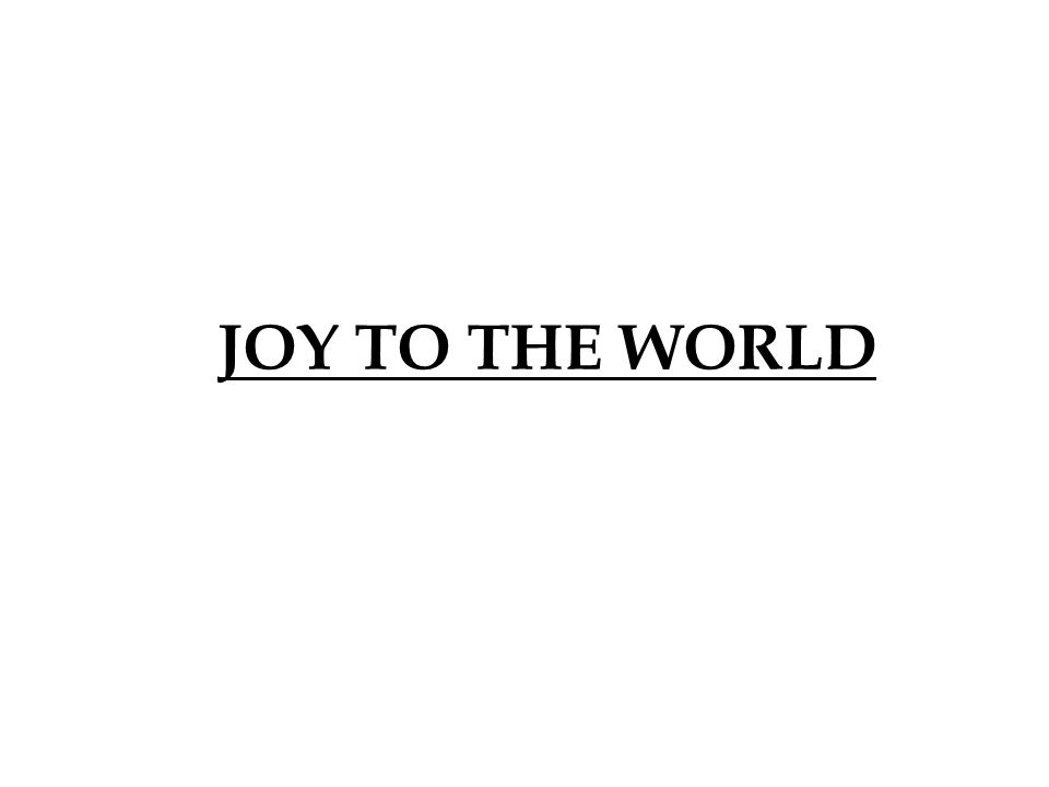 JOY TO THE WORLD 360