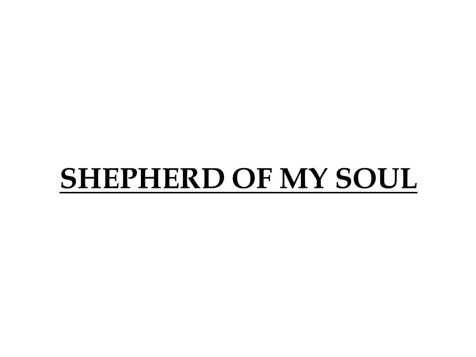 SHEPHERD OF MY SOUL 396 396
