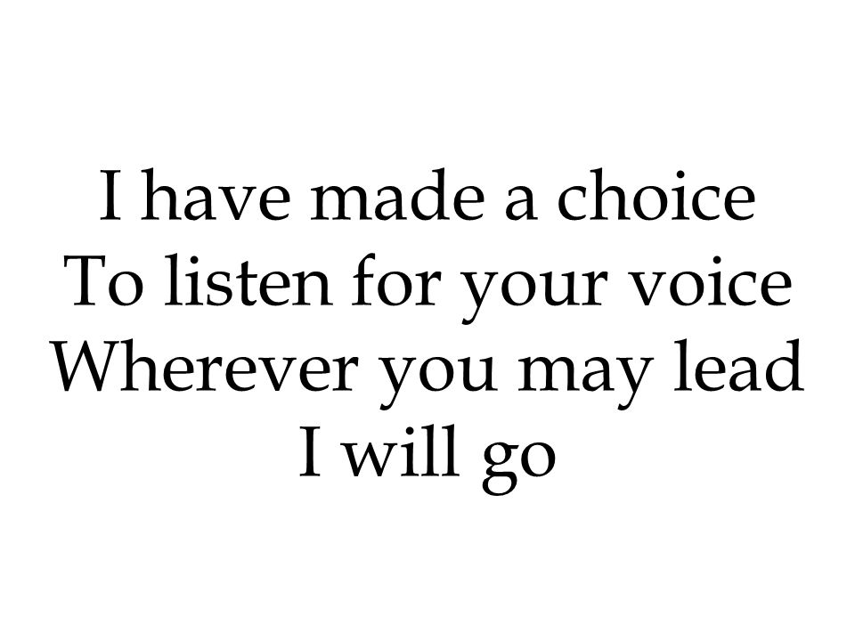 To listen for your voice