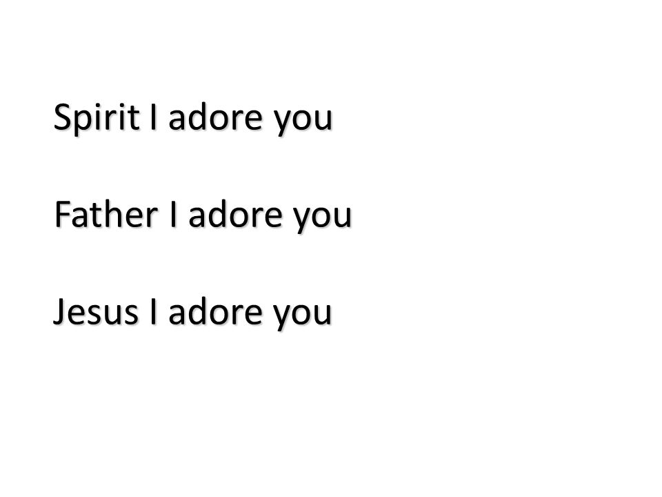 Spirit I adore you Father I adore you Jesus I adore you 78
