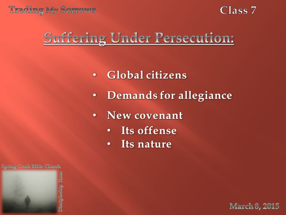 Suffering Under Persecution:
