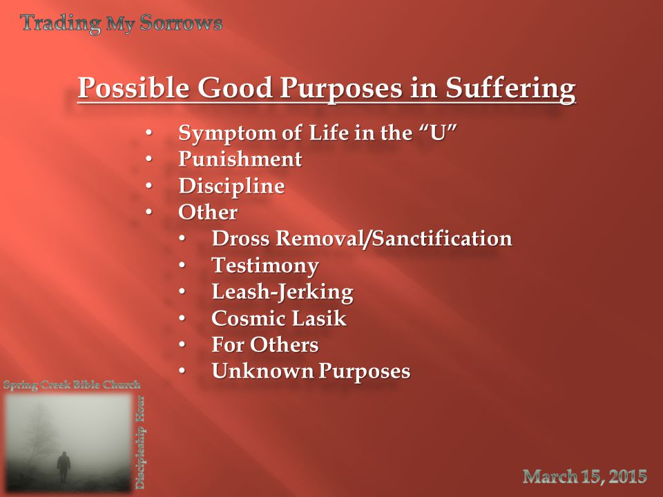 Possible Good Purposes in Suffering