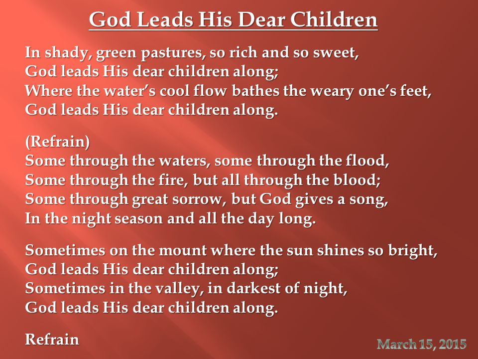 God Leads His Dear Children