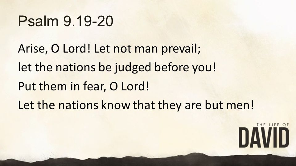 Psalm 9.19-20