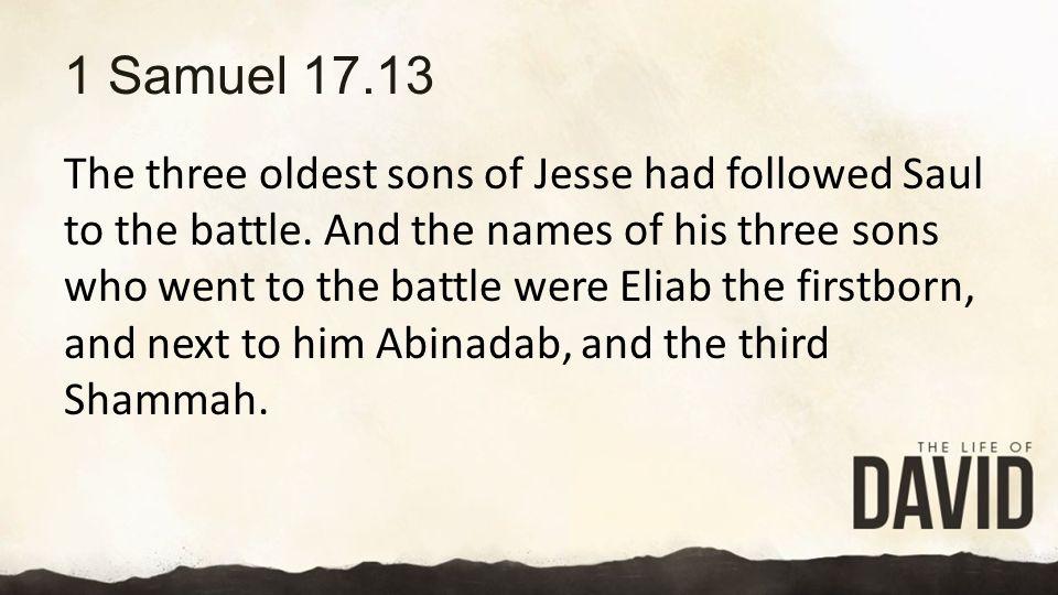 1 Samuel 17.13