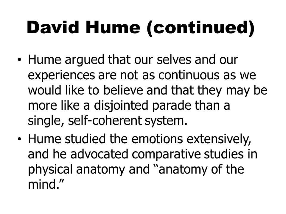 David Hume (continued)