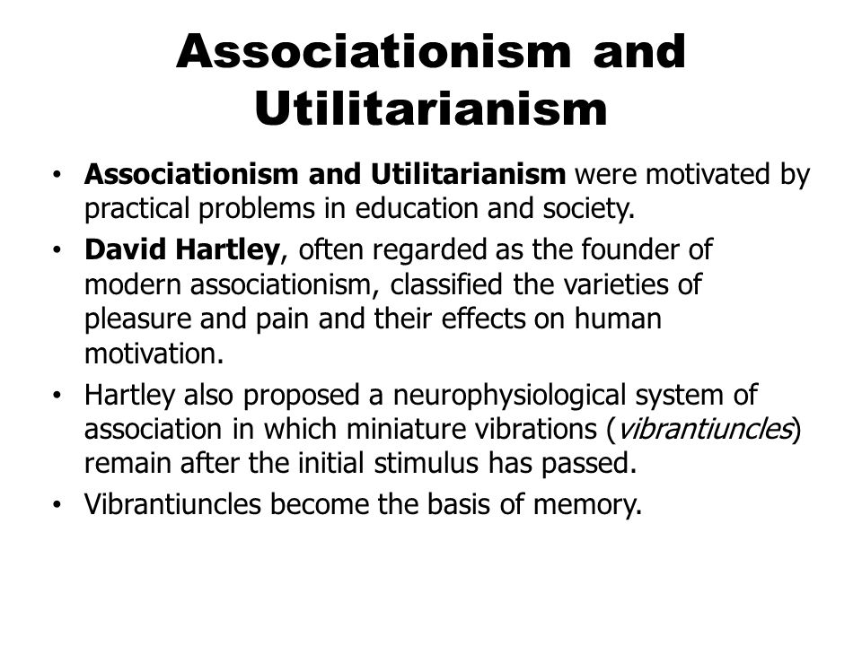 Associationism and Utilitarianism
