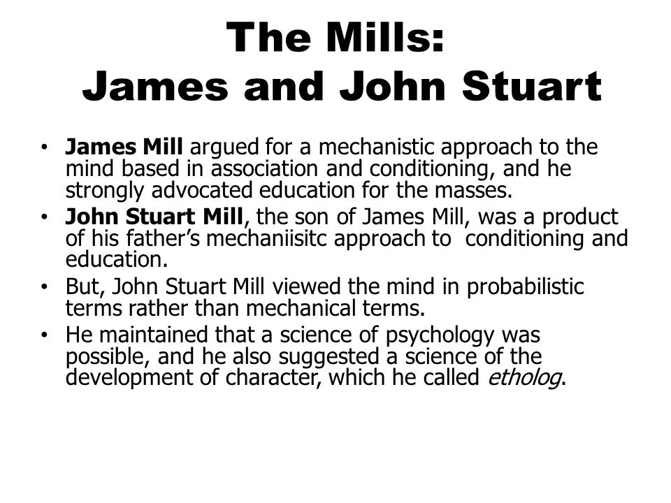 The Mills: James and John Stuart