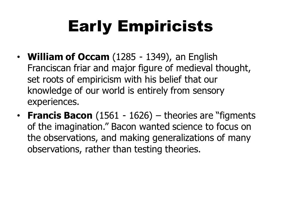 Early Empiricists