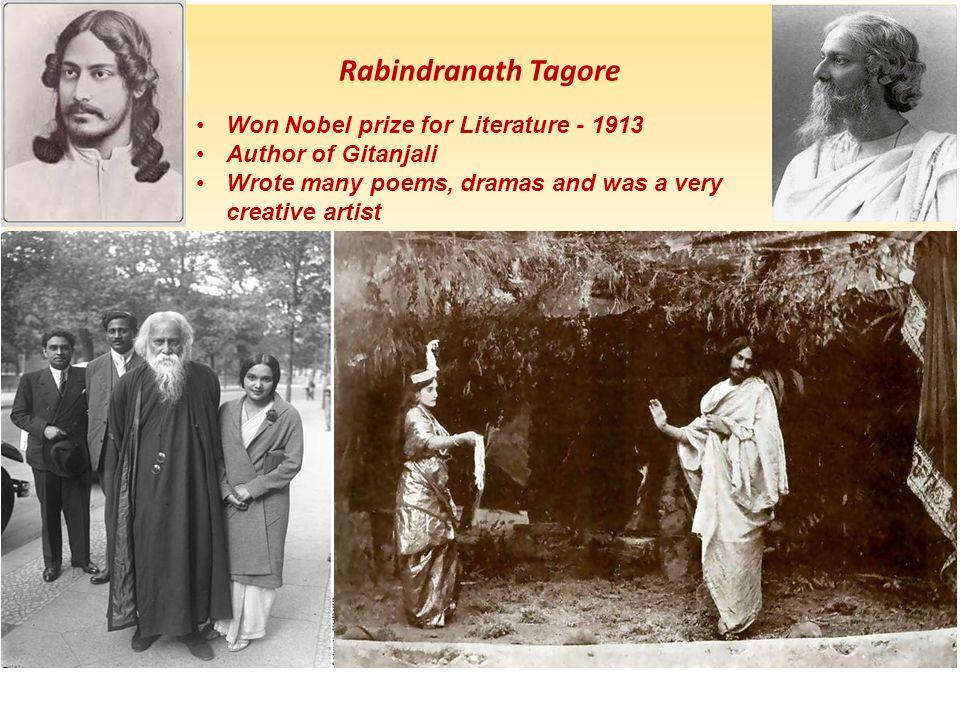 Rabindranath Tagore Won Nobel prize for Literature - 1913