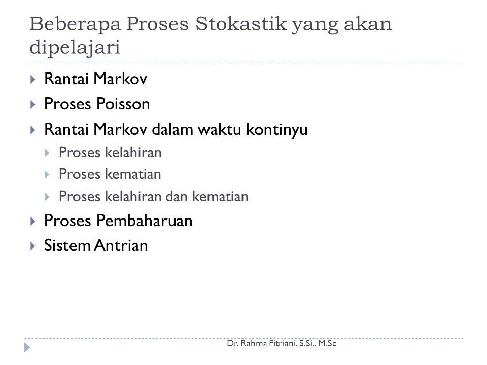 Beberapa Proses Stokastik yang akan dipelajari