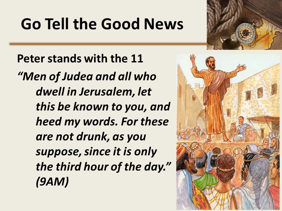 Go Tell the Good News Peter stands with the 11