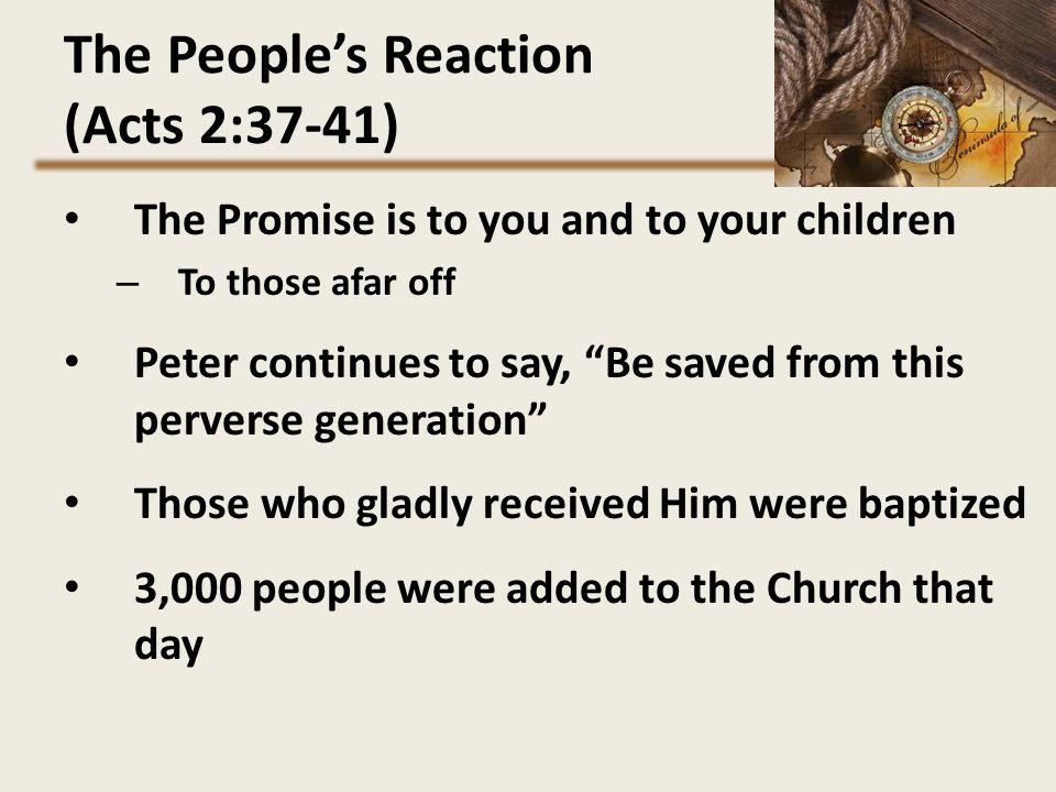 The People's Reaction (Acts 2:37-41)