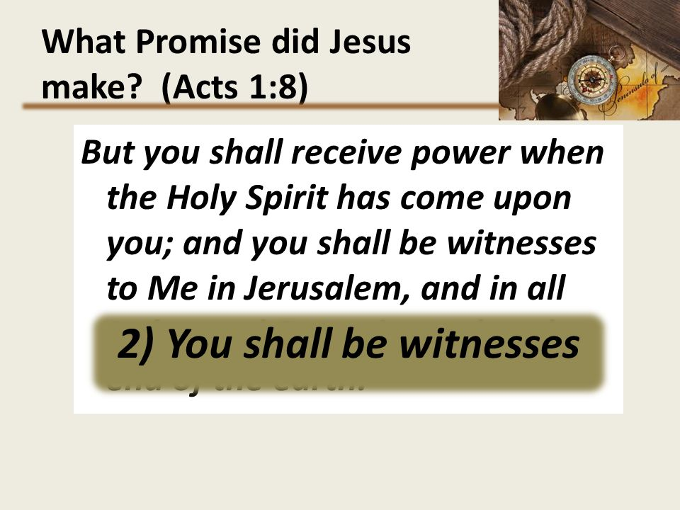 What Promise did Jesus make (Acts 1:8)