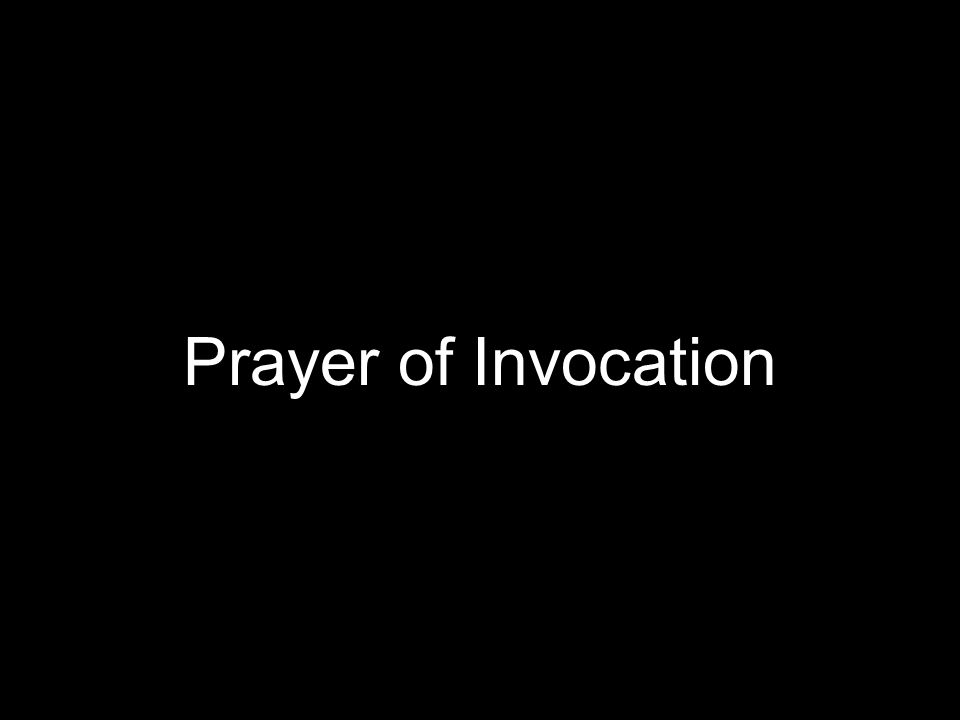 Prayer of Invocation