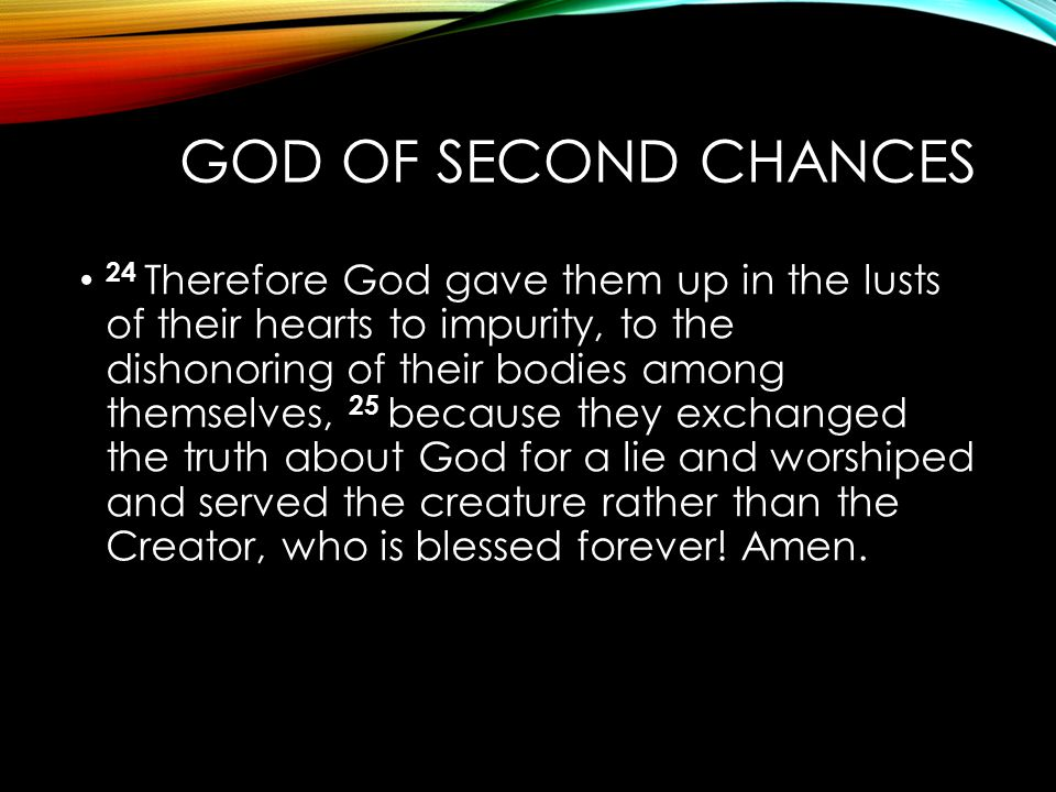 God of Second Chances