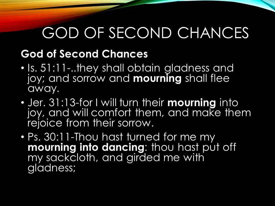 God of Second Chances God of Second Chances
