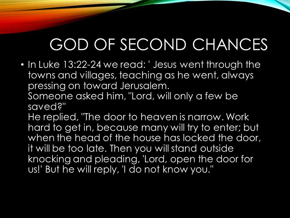 God of Second Chances