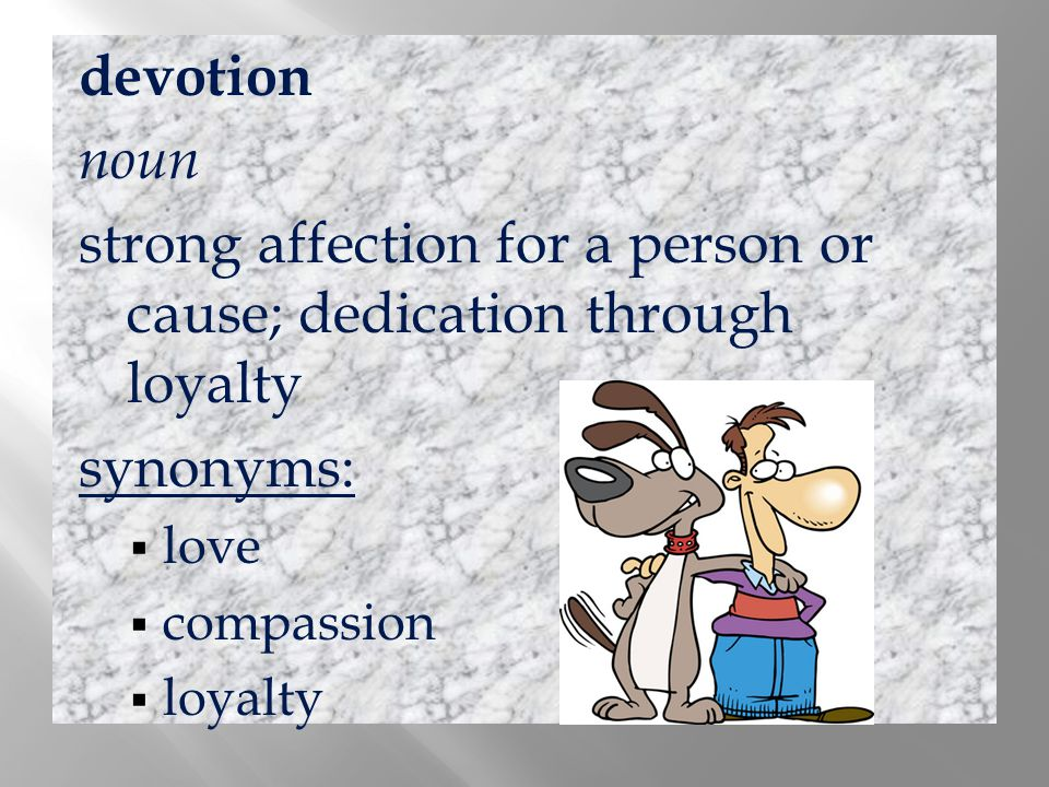 strong affection for a person or cause; dedication through loyalty