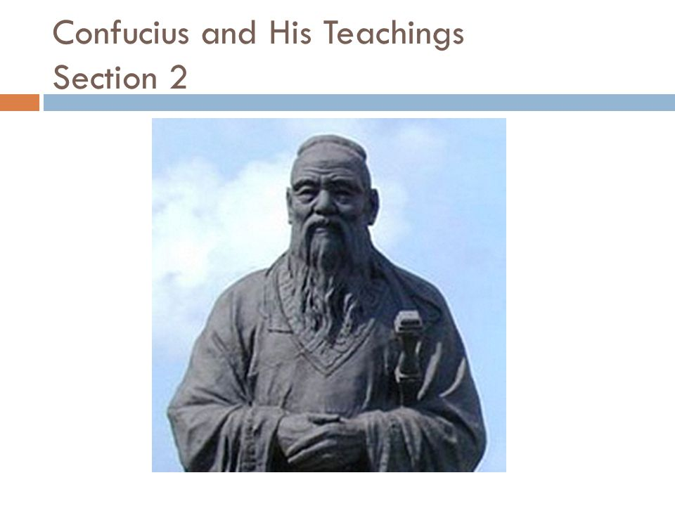Confucius and His Teachings Section 2