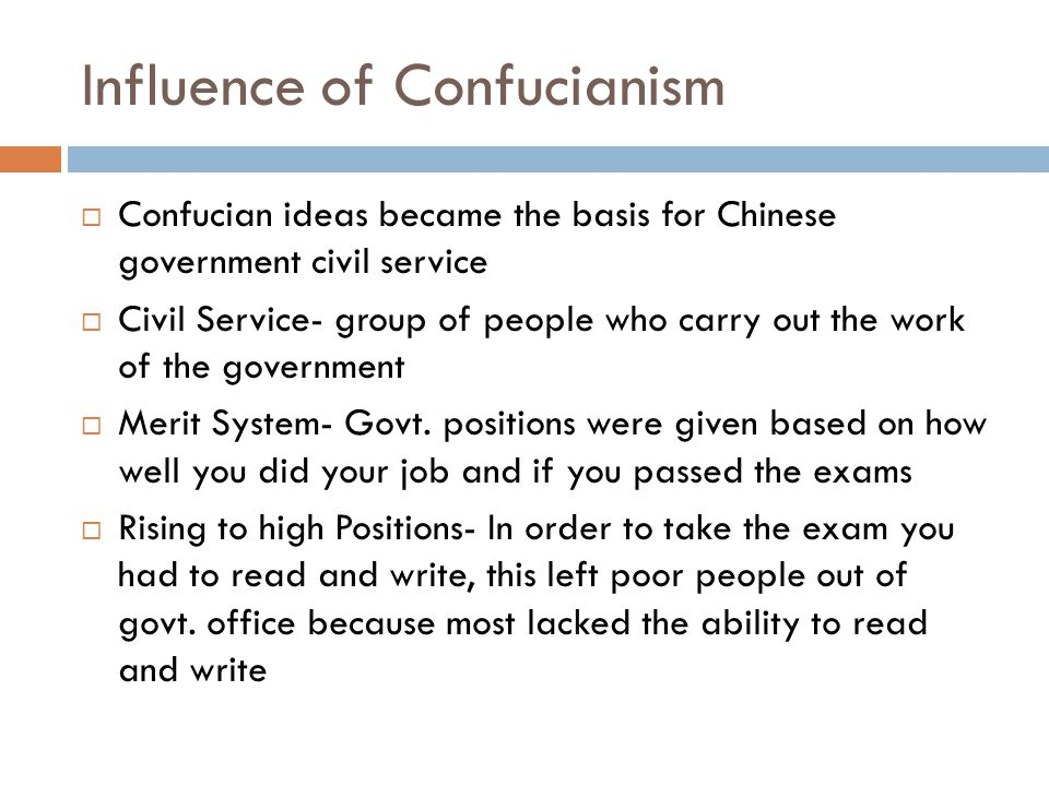 Influence of Confucianism