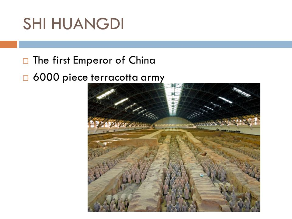 SHI HUANGDI The first Emperor of China 6000 piece terracotta army