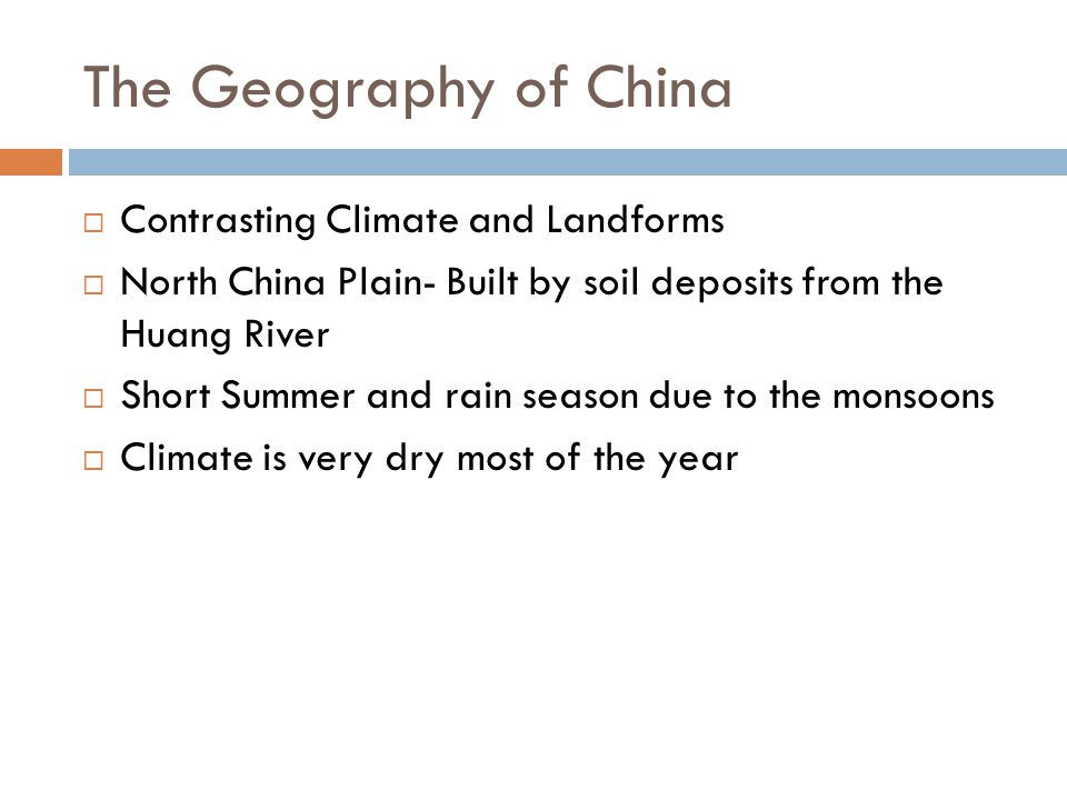 The Geography of China Contrasting Climate and Landforms
