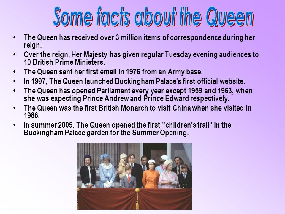 Some facts about the Queen