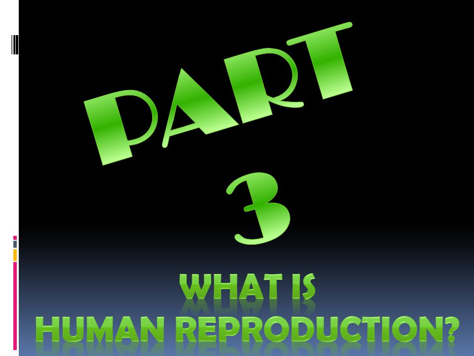 PART 3 WHAT IS HUMAN REPRODUCTION