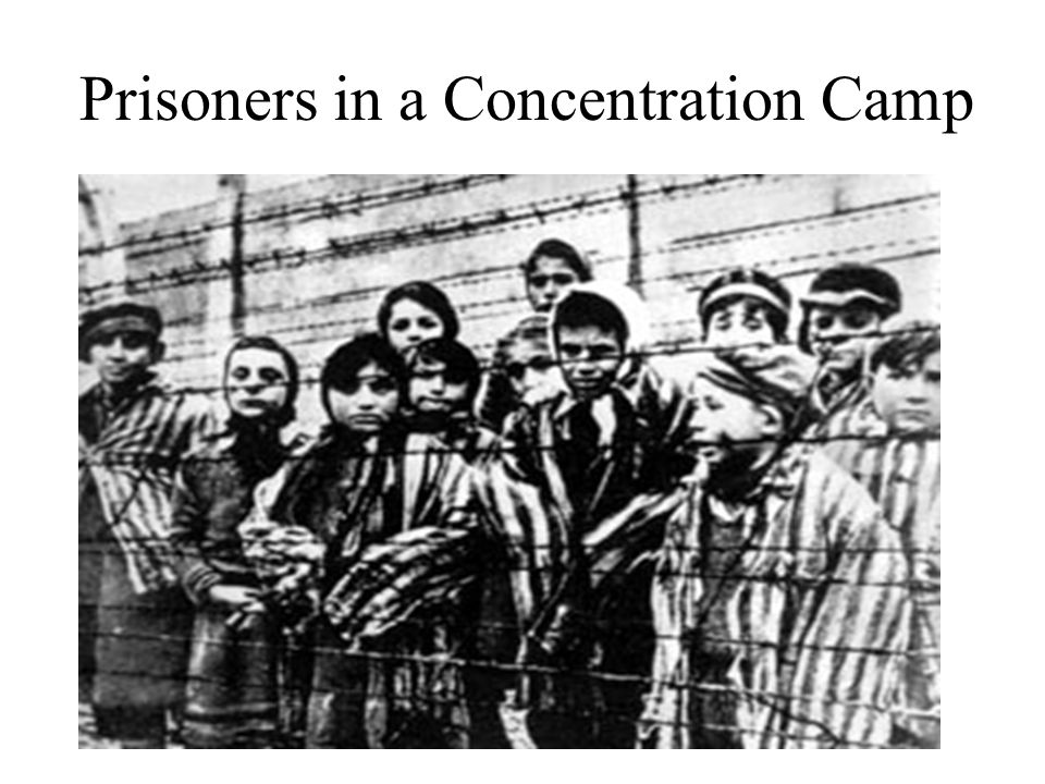 Prisoners in a Concentration Camp