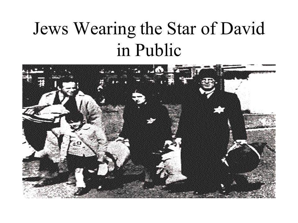 Jews Wearing the Star of David in Public
