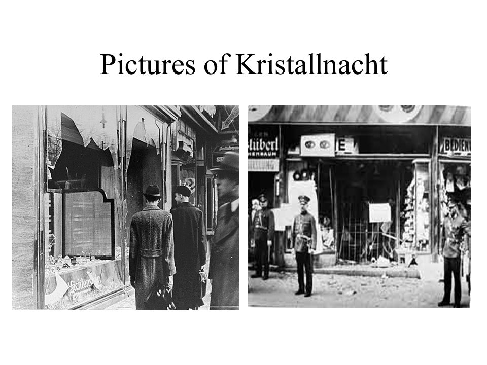 Pictures of Kristallnacht
