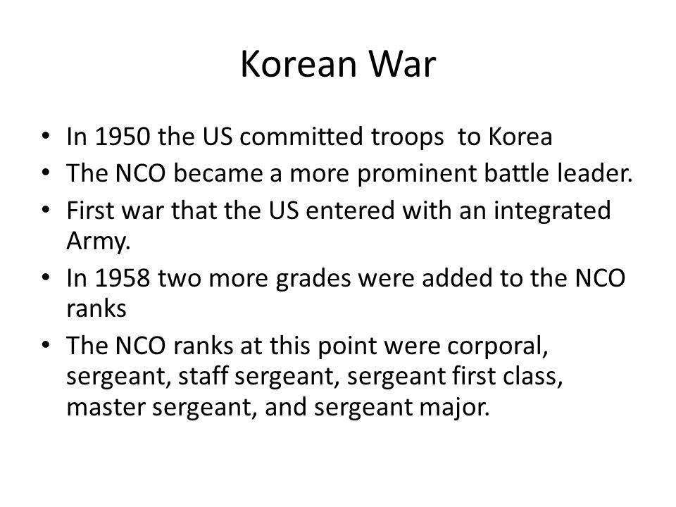 Korean War In 1950 the US committed troops to Korea