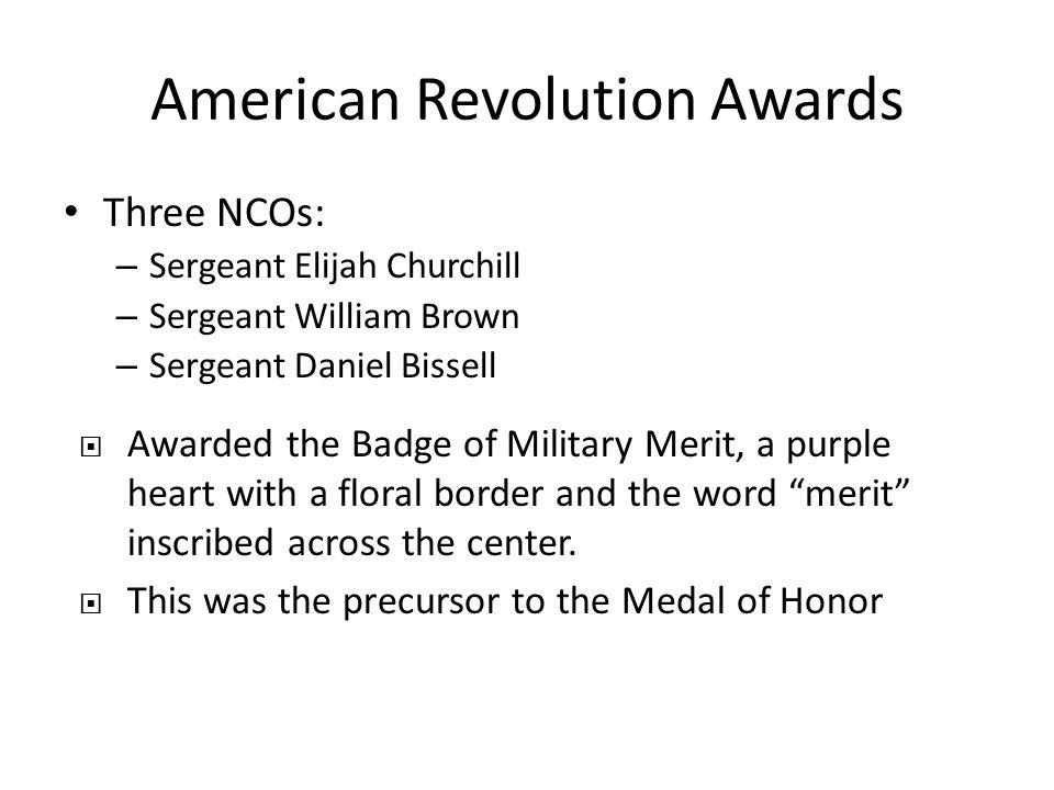 American Revolution Awards