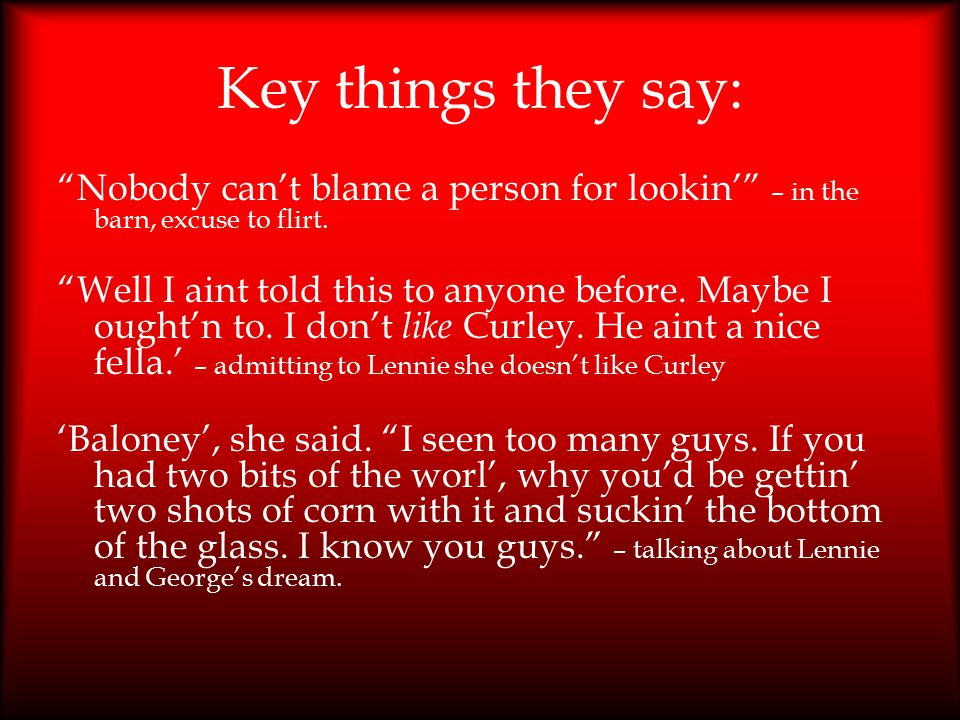 Key things they say: Nobody can't blame a person for lookin' – in the barn, excuse to flirt.