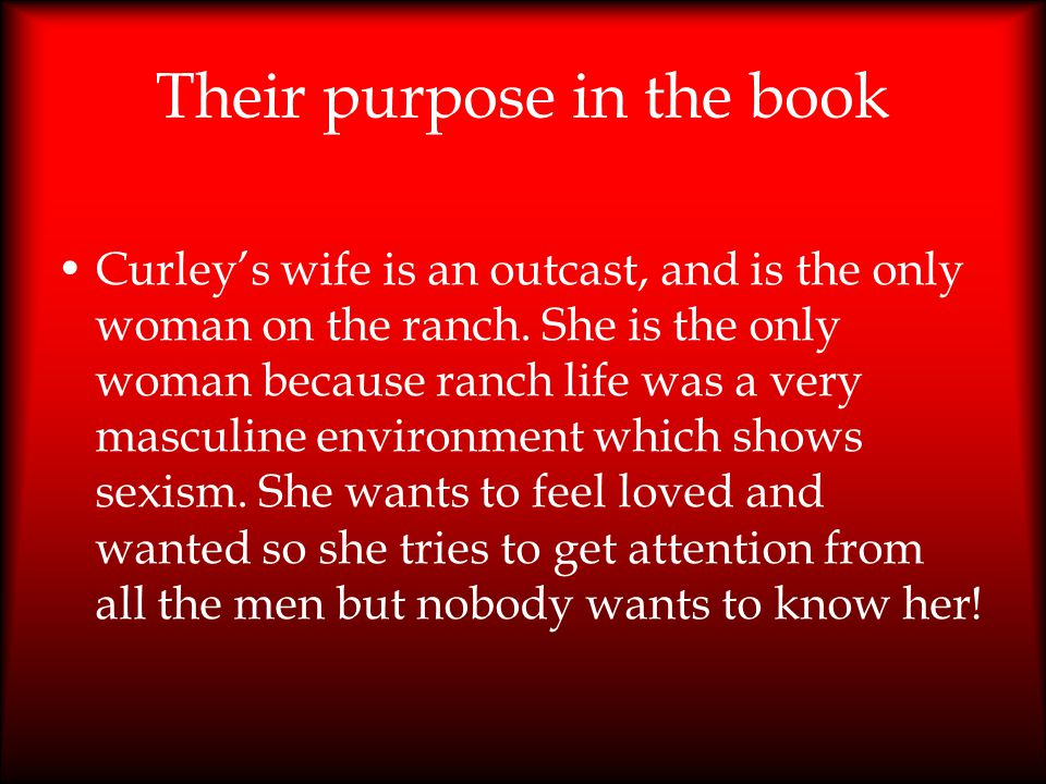 Their purpose in the book